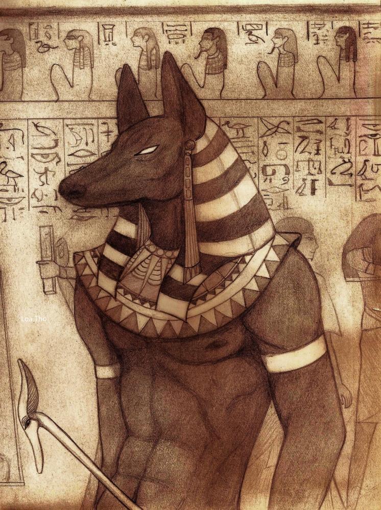 Portrait Of Anubis By LoaTho On Stars Portraits